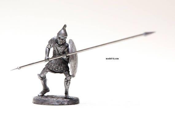Tin Miniature 54mm Macedonian infantryman 1//32 Scale