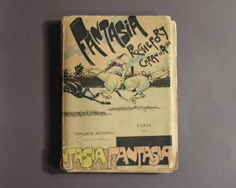 Fantasia by Rochefort and Caran D'Ache 1888 / Classic French Satire and Caricature / Vintage Book Collection / Caran D'Ache Illustrations
