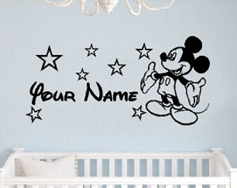 Mickey Mouse Wall Decal | Etsy