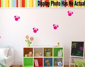 Minnie Mouse Head Decal | Disney Decal | Minnie Mouse Decal | Minnie Silhouette Decal |  Nursery Decal | Bedroom decal | Wall Decal | A