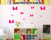 Minnie Mouse Bow Vinyl Wall Decal. Custom Decoration Sticker. Kids Bedroom Nursery Birthday Party Decorations Play Room Removable Style B