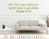 Psalm 13:5 Decal - Bible Wall Decal - Scripture Wall Decal - Christian Wall Decal - Bible Verse Decal, Scripture Decal, Religious Wall Decal