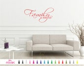 Family is Forever Inspirational Removable Wall Quote Saying Vinyl Art Decal Sticker Mirror Wall Living Room Home Décor Mural