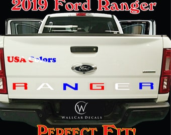 Tailgate Insert Letter Decals for 2019 20 Ford Ranger Truck Custom USA Stamped Accent Inlay Vinyl Sticker Inserts Accessories Stickers Kit B