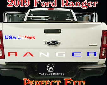 Tailgate Insert USA Letter Decals for 2019 20 Ford Ranger Truck Custom Stamped Accent Inlay Vinyl Sticker Inserts Accessories Stickers Kit A
