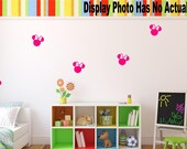 Minnie Mouse Head Decal   Disney Decal   Minnie Mouse Decal   Minnie Silhouette Decal    Nursery Decal   Bedroom decal   Wall Decal   A