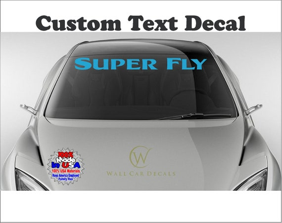 personalized vinyl sticker decal custom text name car wall windshield glass new