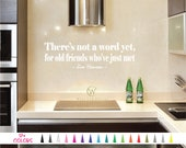 There's not a word yet for old friends who've just met Jim Henson Wall Quote Saying Vinyl Decal Sticker Mirror Living Room Home Decor