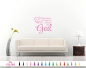 With Faith We Move closer to God Vinyl Wall Decal. Custom Decoration Quote Sticker. 17 Colors - Multiple Size Choice