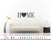 Home with Heart - Inspirational Saying Wall Quote Vinyl Decal Sticker. Free Fast Shipping! Mirror Wall Room Door