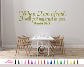 Psalm 56:3 Decal, Bible Wall Decal, Scripture Wall Decal, Christian Wall Decal, Bible Verse Decal, Scripture Decal, Religious Wall Decal art