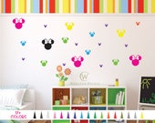 Minnie Mouse Head Silhouette Vinyl Decals Mirror Wall Room Girls Boys Bedroom Decor Car Window Style B Choose Size Color Removable DIY Craft