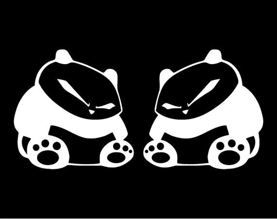 Panda Decals Pair Decals Car Window Ricer Jdm Nismo Illest