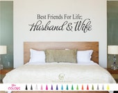 Best Friends For Life Husband and Wife Decal - Husband and Wife Sticker - Wall Quote Decal - Marriage Forever Love Decal Wall Art Home Decor
