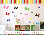 Minnie Mouse Bow Vinyl Wall Decal. Custom Decoration Sticker. Kids Bedroom Nursery Birthday Party Decorations Play Room Removable Style A