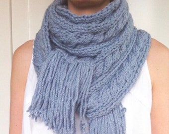 Chunky Cable Scarf Etsy