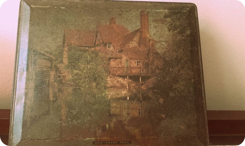 Vintage 50/'s Rustic chic Edward Sharp and Sons Ltd Old Paper Mill Standon