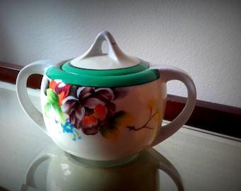 Vintage 30's Noritake Japan Floral Sugar Bowl