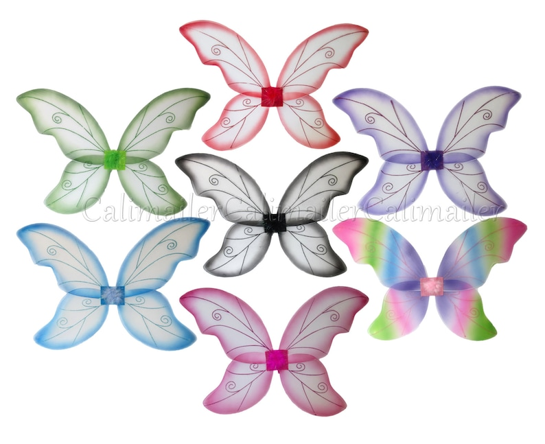"Adult Multi Color Pixie Butterfly Fairy 21/"" Wings Dress Up Girls Costume"