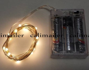 Mini String light 20 led 7 feet long Waterproof battery-operated lights - 7 colors
