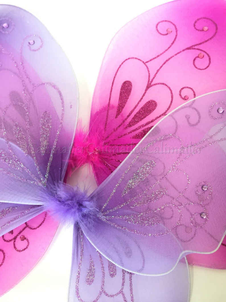 BEAUTIFUL 21\u201dx14\u201d SPARKLING Butterfly Dress-up Costume Wings 3 colors