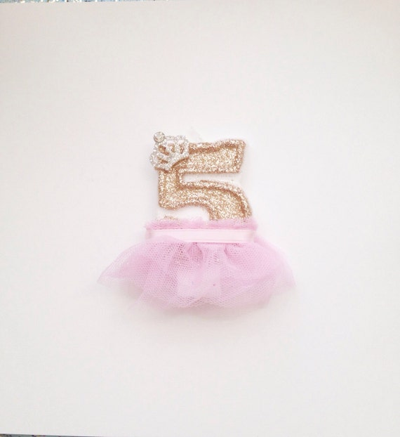Pink And Gold Princess Candle Glitter