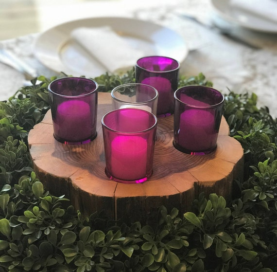5 Hole Medium Cedar Round Advent Wreath