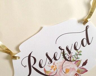 RESERVED Sign - Instant Download