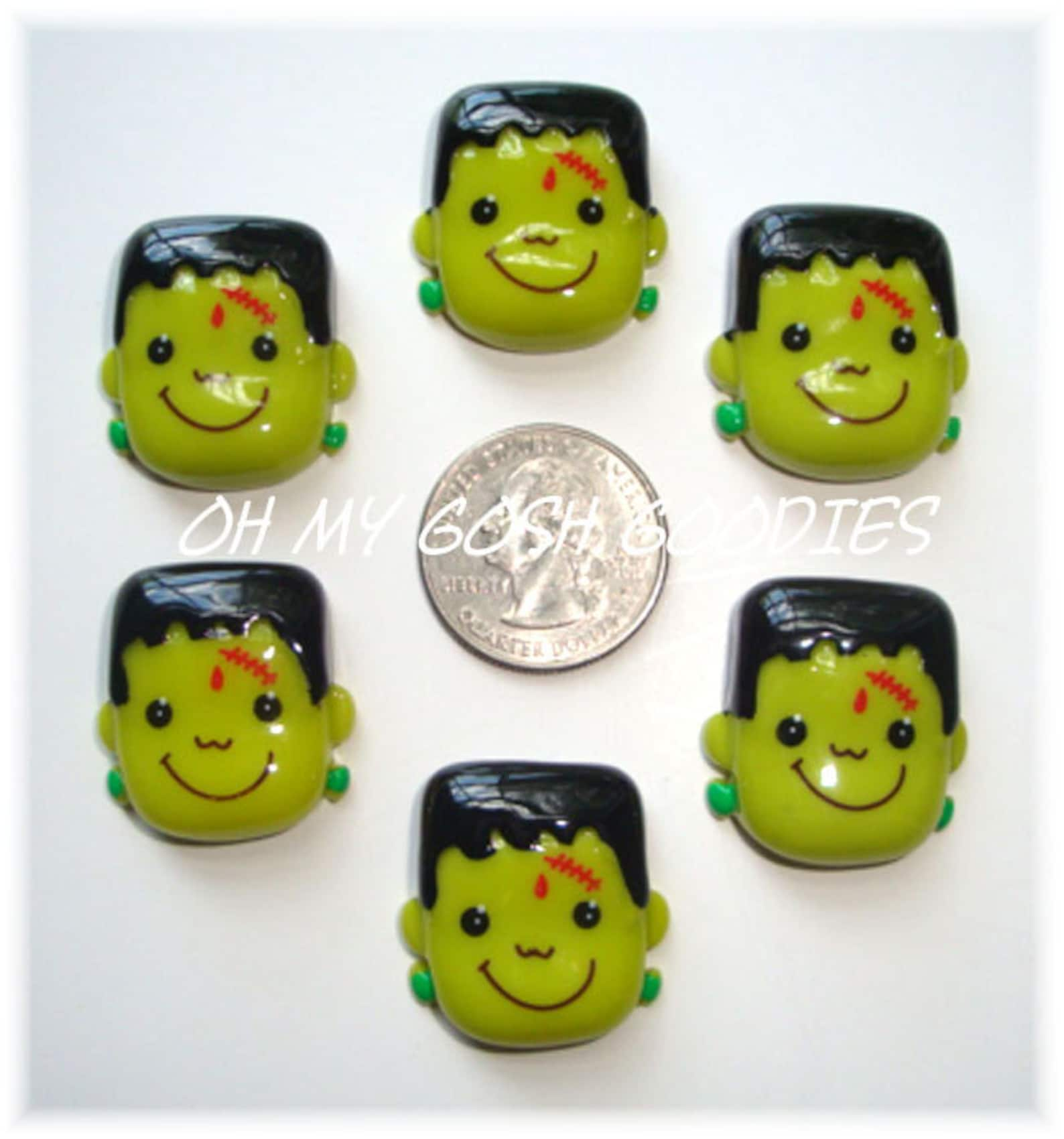 Frankenstein Flat Back Resin Cabachons