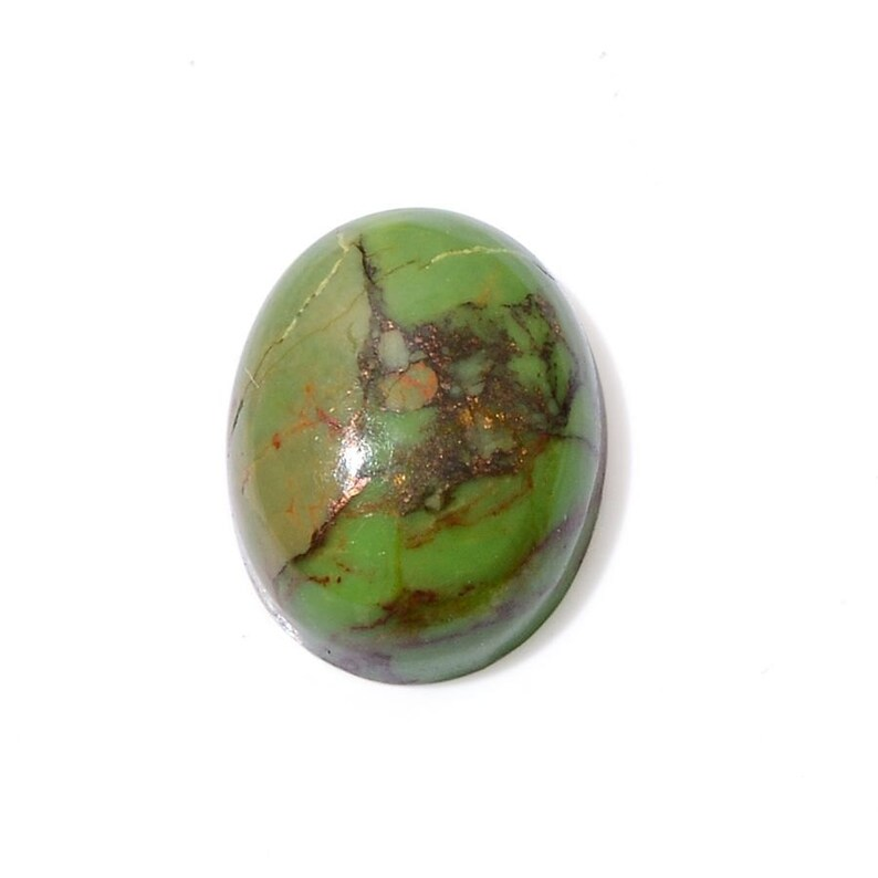 Green Mojave Turquoise Oval Cabochon Loose Gemstone 1A Quality 9x7mm TGW 1.25 cts.