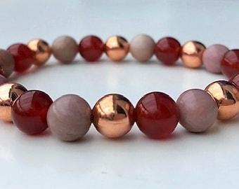 Arthritis & Rheumatism Relief Crystal Copper Healing Gemstone Bracelet Amelie Hope Crystals Power Bead