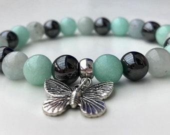 Anxiety Relief Aid Crystal Healing Gemstone Bracelet Amelie Hope Crystals Power Bead