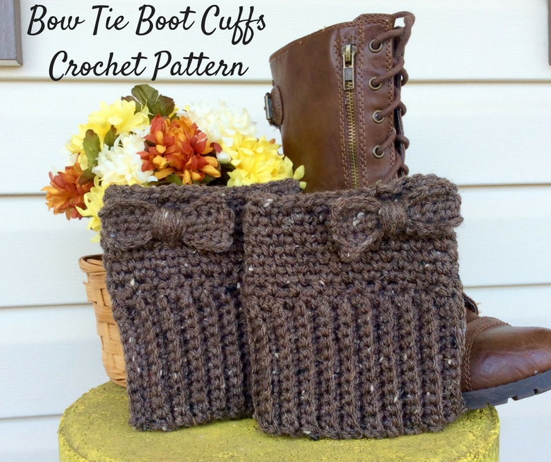 Easy Brown Boot Cuff Crochet Pattern Beginners Boot Cuff Etsy