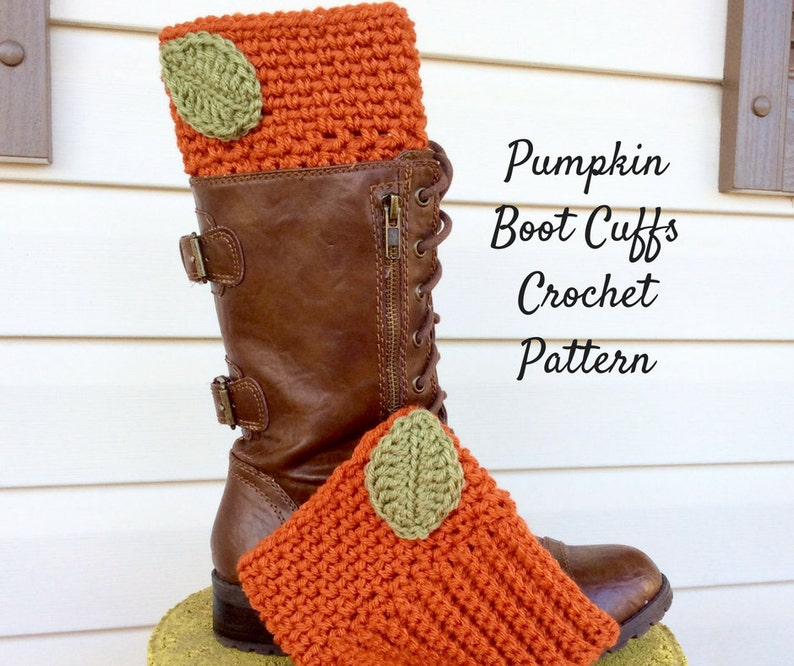 Easy To Intermediate Pumpkin Boot Cuff Crochet Pattern Fall Etsy