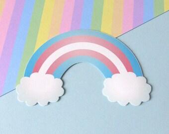 Transgender Rainbow Pride Sticker