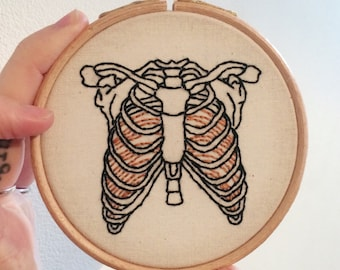Ribcage embroidery