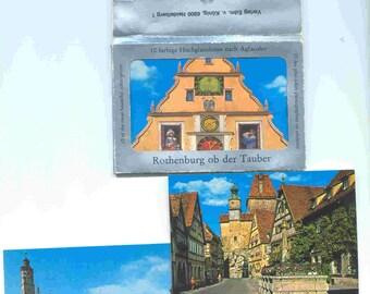 Vintage * Rothenburg ob der Tauber Miniature Color Print Collectible 10 Card Collection