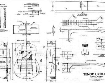 Tenor Ukulele Plan Woodworking Uke Plan Templates Musical Instrument Ukulele Hawaiian Guitar Plan Luthier Music Rolling Thunder Wood