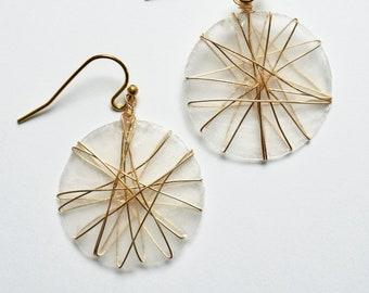 Matira Capiz Shell Earrings