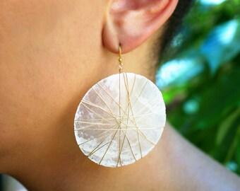 Vanuatu Capiz Shell Earrings