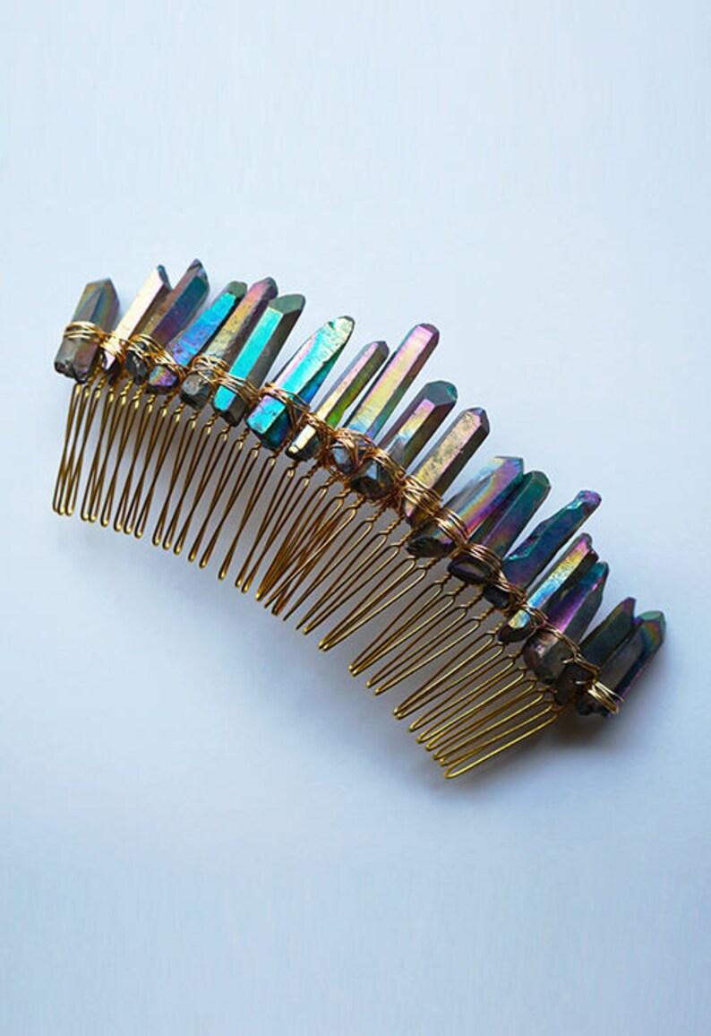 The Katherine Rainbow Crystal Comb