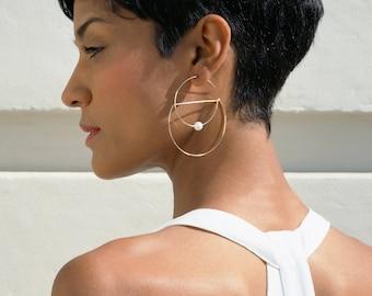 Nerissa Geometric Hoop Earrings