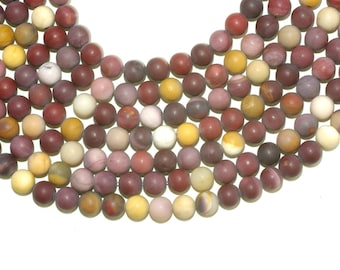 Mookite Matte Beads 8mm Round, Frosted Mookite Raw Beads, Not Polished, 16 inches strands