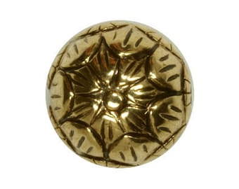 Metalized Beads Round Antique Gold Coated Plastic Beads 13mm - 6 Beads Per Pack