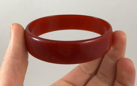 Vintage Semi Transparent Wine Cranberry Coloured O