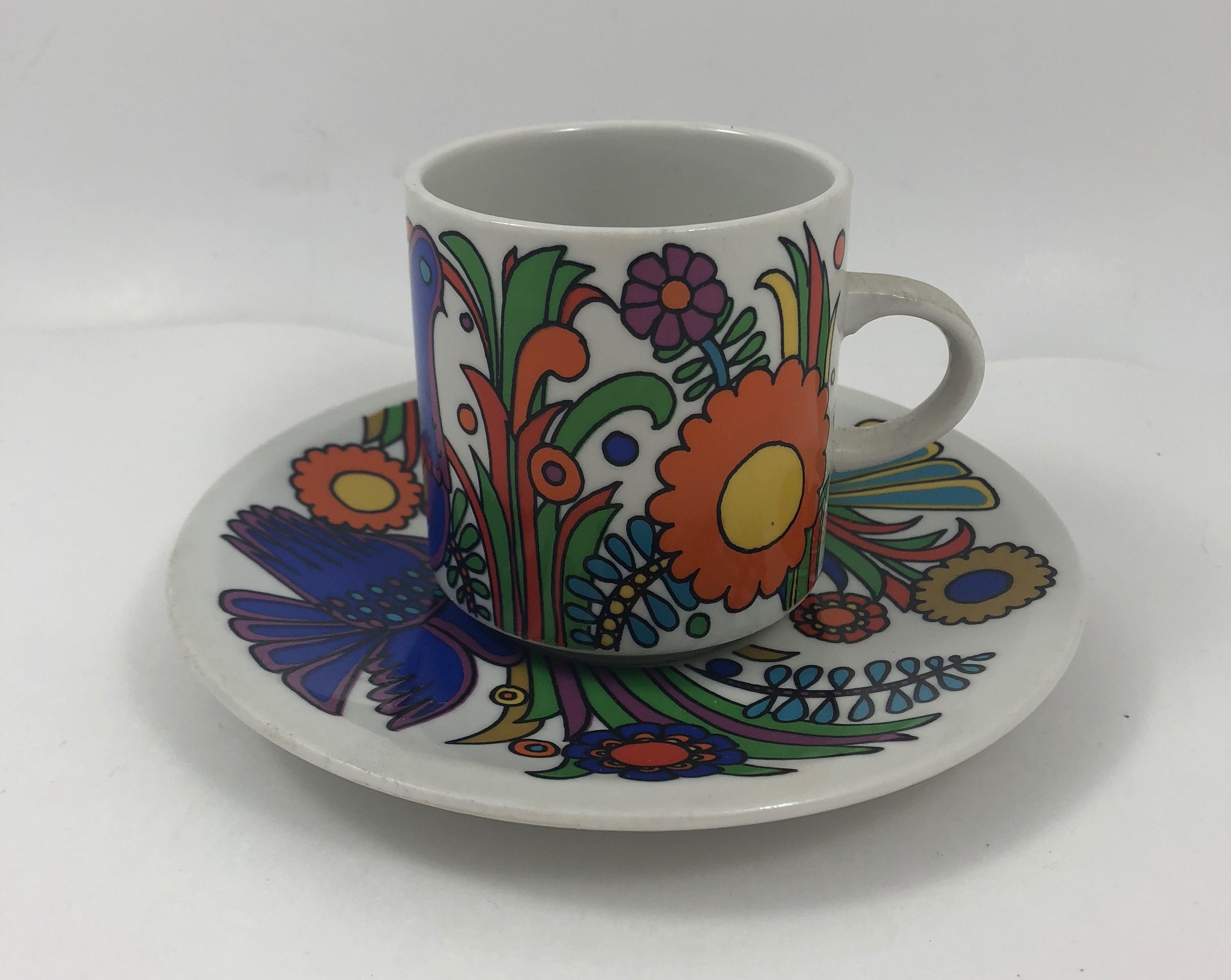 Piastrelle Villeroy Boch.Vintage Villeroy Boch Acapulco Coffee Cup And Saucer Etsy