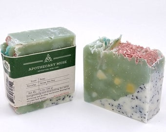 Soap - Seize the Day - Minty Citrus, Relaxing, Green, Invigorating, Massage, Palm-free, Zero Waste - 5 oz