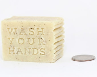 Hand Soap - Wash Your Hands - Cleansing Soap, Small Size - 2.5 oz