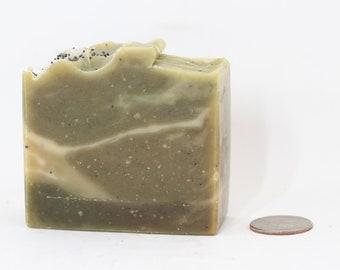 Soap - Morning Monster - Spearmint, Rosemary, Eucalyptus, Poppy Seeds, Self Care, Zero Waste Gifts, Vegan - 5 oz