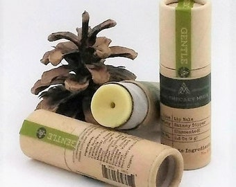 Lip Balm - Skinny Dipper - Unscented, Vegan, Moisturizing, Protecting, Paperboard Tube, Zero Waste - 0.30 oz